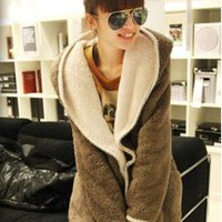 Lovely Hooded Warm Coat Khaki - Designer Shoes|Bqueenshoes.com
