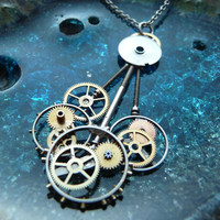 Clockwork Pendant Mass Machine Recycled by amechanicalmind on Etsy