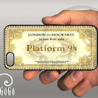 iPhone 5 case, Harry Potter inspired Hogwarts Ticket design, custom cell phone case