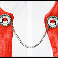 love PENGUINS sweater guard clip