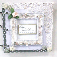 small 6 x 6 inch wedding scrapbook photo album