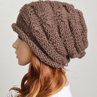 Slouchy Woman Handmade Knitting Hat.. on Luulla