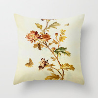 Chrysantheme Throw Pillow by Vargamari | Society6