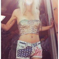 Gypsy Junkies Liberty Cutoffs