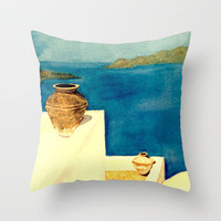 Greek Memories No.4 Throw Pillow by Vargamari | Society6