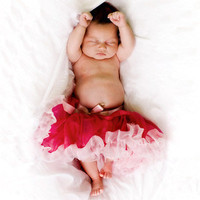 Raspberry Pink Newborn Pettiskirt