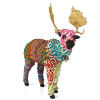 Chindi Wrapped Moose, Multi Colored