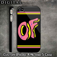 Odd Future logo custom Black iPhone 4/4s and also iphone 5 Case Apple Phone Hard Cover Plastic