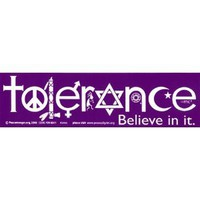 Amazon.com: Tolerance Believe in it. Magnetic Bumper Sticker: Automotive