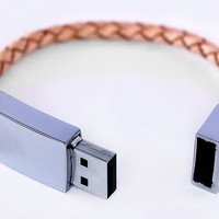 Scandinavian Design Leather USB Bracelet