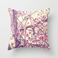 Magnolia 2 Throw Pillow by ioanaPhotography | Society6