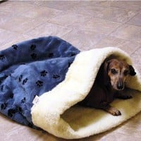 Doodlebug Dud&#x27;s Sleeping Bag For That Pet That Loves To Burrow - Size small (under 12 pounds)