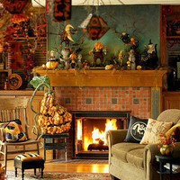 Halloween Living Room Decorating Ideas | Shelterness