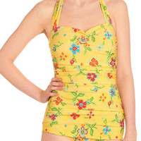Esther Williams Bathing Beauty One Piece in Needlepoint | Mod Retro Vintage Bathing Suits | ModCloth.com