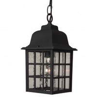 Craftmade Exterior Lighting Cast Aluminum Outdoor Grid Cage Pendant with Seeded Water Glass - Z271-07 - Exterior Lighting - Lighting