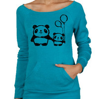 SALE Panda Love  Alternative Apparel Maniac Sweater