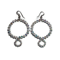 Maya crystal hoop earrings handmade etsy jewelry