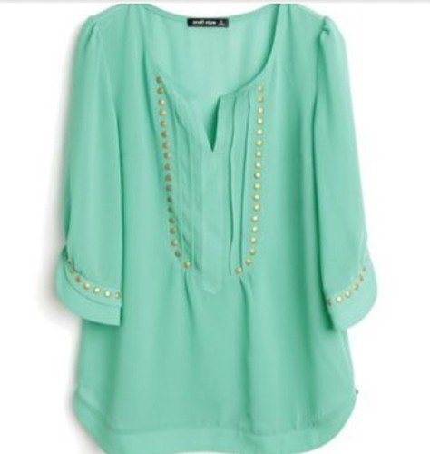 Mint Green Chiffon Blouse