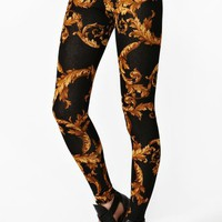 Baroque Knit Leggings