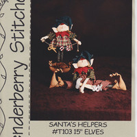 Santa&#x27;s Helpers: Pattern for 15 inch Elves / Tenderberry Stitches