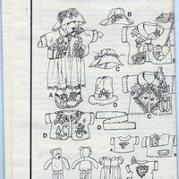 Jana Beus Bear and Clothing Pattern - 31 inch Simplicity 7606
