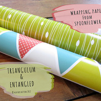 Yay! Spoonflower Wrapping Paper!