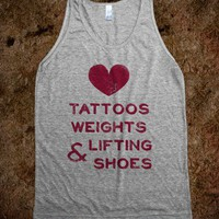 Love Tattoos Weights &amp; Lifting Shoes