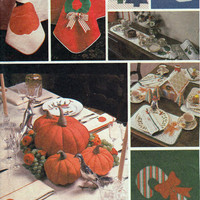 Holiday Table Setting pack. McCalls 7651