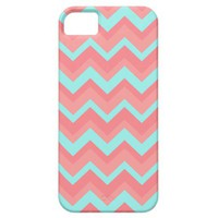 Chevron light pink blue Pattern iPhone 5 Case from Zazzle.com