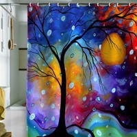 Amazon.com: DENY Designs Madart Winter Sparkle Shower Curtain, 69 by 72: Home &amp; Kitchen
