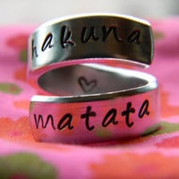 The original Hakuna Matata twist aluminum ring Version III