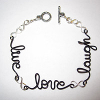 Free Shipping Cyber Monday Live Love Laugh Infinity Bracelet