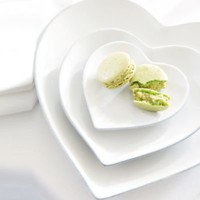 Stoneware Heart Plates from The White Company