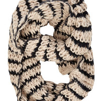 Oat chunky stripe snood.