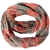 Coral and grey space dye snood - Scarves & Snoods  - Accessories
