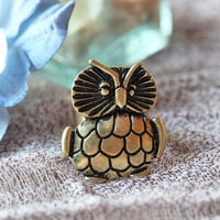 hootenanny owl ring - $7.99 : ShopRuche.com, Vintage Inspired Clothing, Affordable Clothes, Eco friendly Fashion