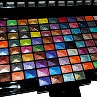 Amazon.com: Elegant 100 Piece Glitter Eyeshadow Makeup kit in Black Palette: Beauty