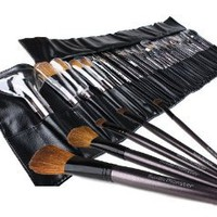 Amazon.com: Bundle Monster 34pc Studio Pro Makeup Make Up Cosmetic Brush Set Kit w/ Leather Case - For Eye Shadow, Blush, Concealer, Etc: Beauty