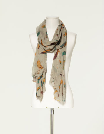 FEATHER PRINT SCARF - Scarves - Accessories - Collection - Woman - ZARA United States