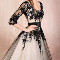 New Tulle Tea Length A-Line Cocktail Prom Dresses Evening Bridal Gowns Csutom