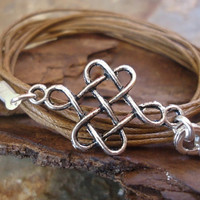 CELTIC NODE Wrap Bracelet & tibean silver by AsaiBolivien on Etsy 7,90 US$