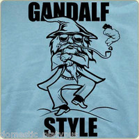 New GANDALF STYLE - Lord of the Rings / HOBBIT &amp; Psy GANGNAM STYLE Parody SHIRT