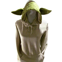 Yoda Inspired Adult Hooded Sweatshirt