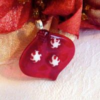 Red Glass Holiday Tree Ornament