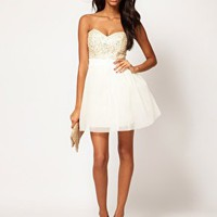 Lipsy VIP Embellished Bust Prom Dress at asos.com