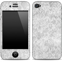 White Lace 1 iPhone Skin FREE SHIPPING