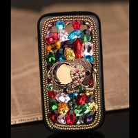 Samsung Galaxy S2 S3 elephant case artificial rhinestones colorful crystals cover - Samsung Phone Cases - Phone Cases Rhinestones iPhone 5 4S 3GS Cases, Couple Necklaces / Wedding Rings & Uncommon Gift Ideas - Worldwide Shipping