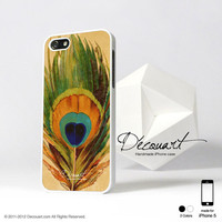 Peacock iphone 5 case, iphone 5 cover, case for iPhone 5, peacock feather S206