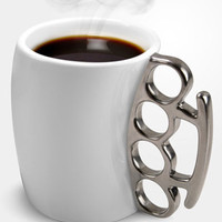 Ceramic Brass Knuckle Mug