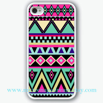 white iphone 4 case, iPhone 4s Case, iphone case 4s, Aztec Pattern Print iphone hard case for iphone 4, iphone 4S